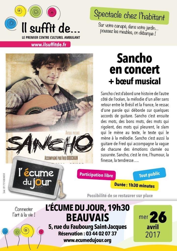 ISD Flyer Sancho Écume du jour Beauvais
