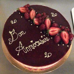 gâteau d'anniversaire 20 ans